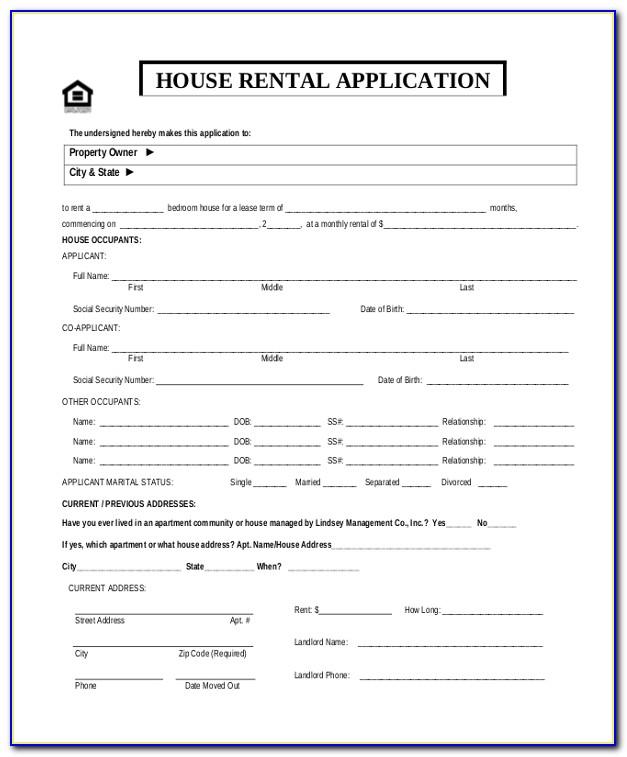 Housing Rental Application Template