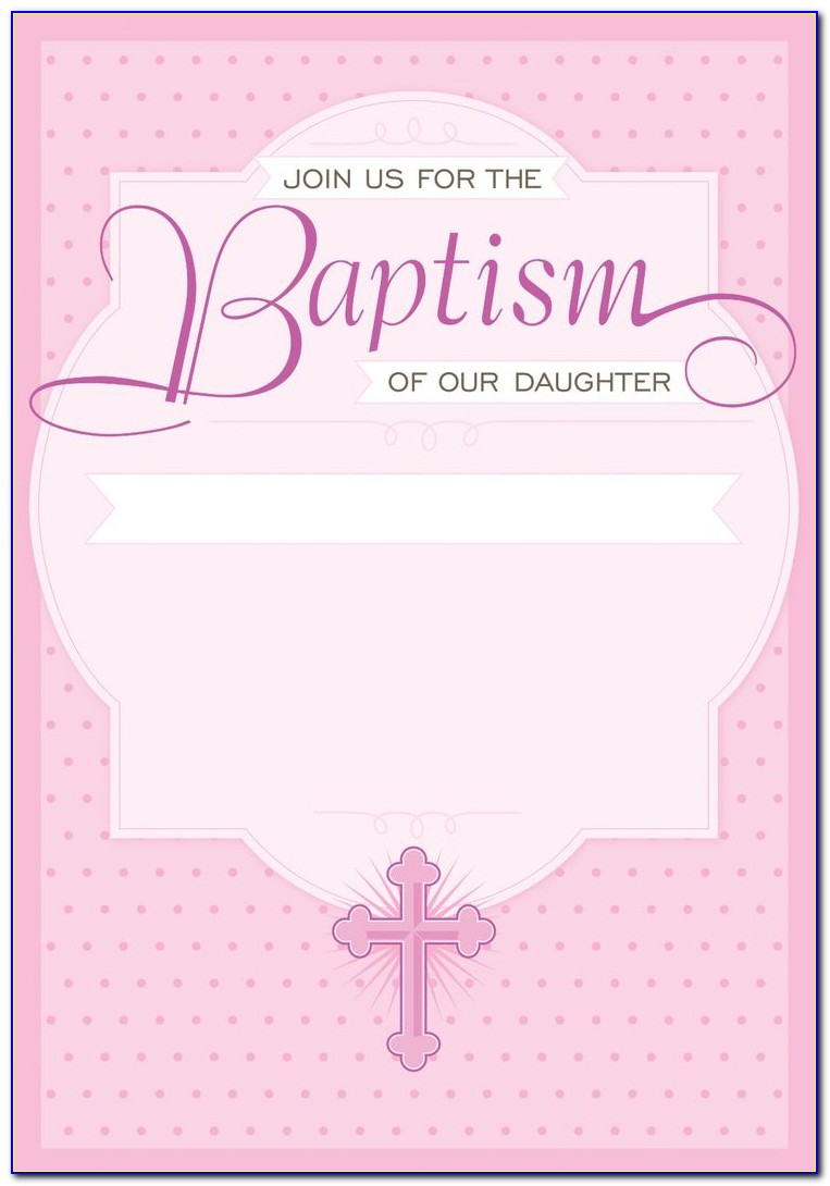 How To Create A Christening Invitation Card