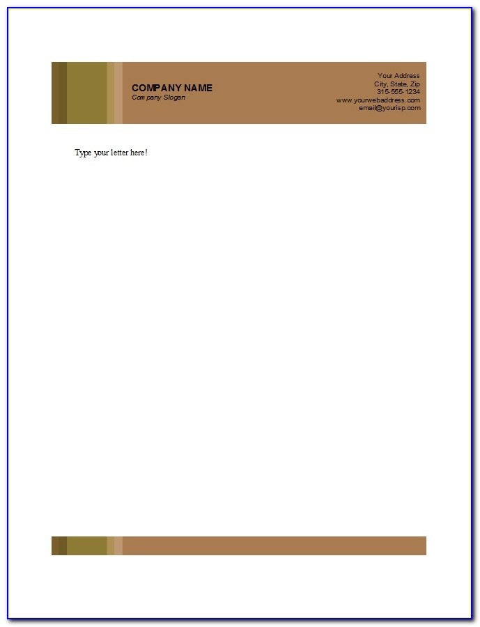 How To Create A Template For Letterhead
