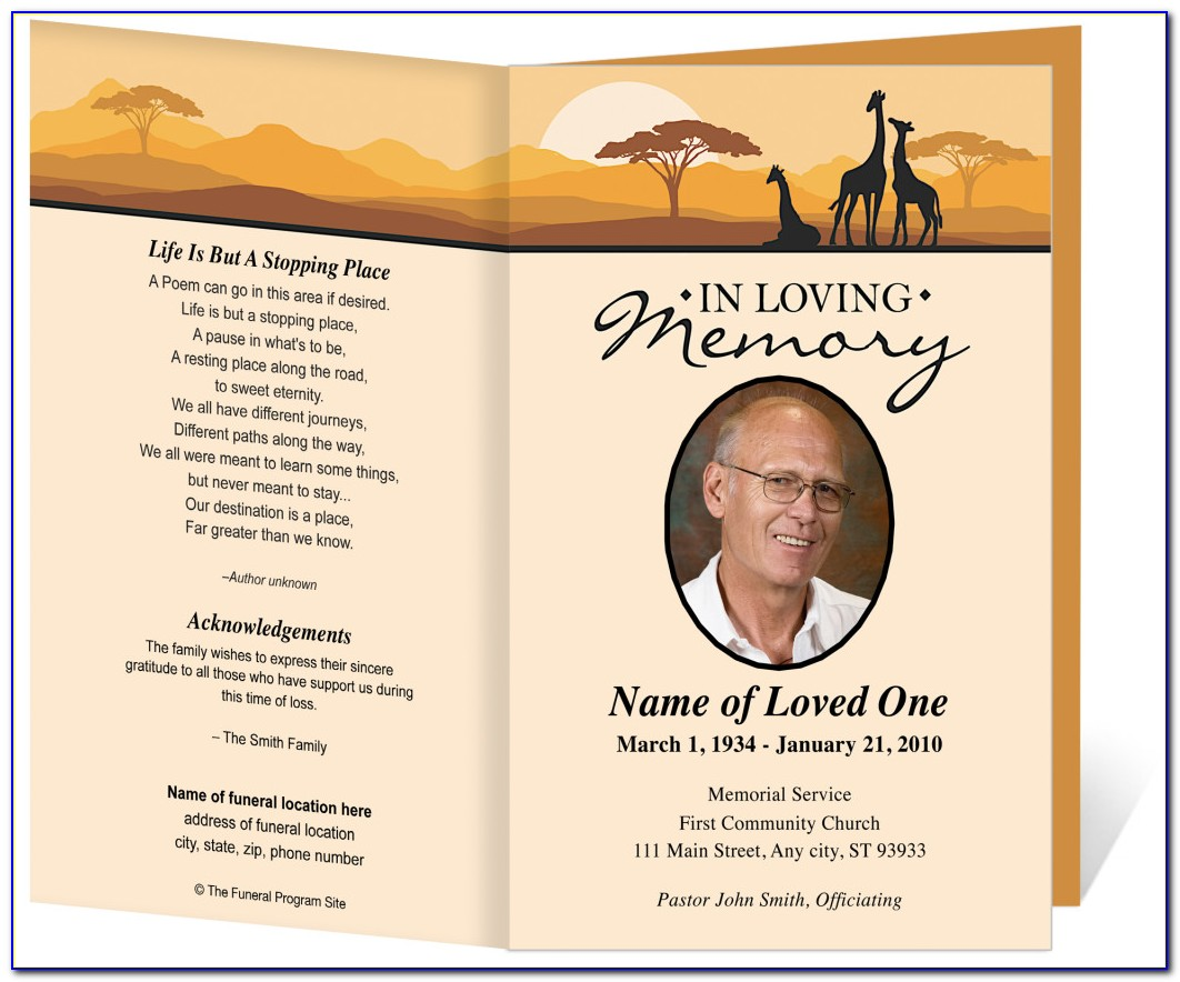 How To Create Funeral Program Template