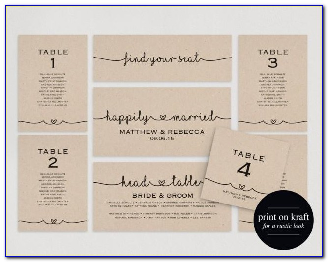 How To Do Wedding Seating Cards