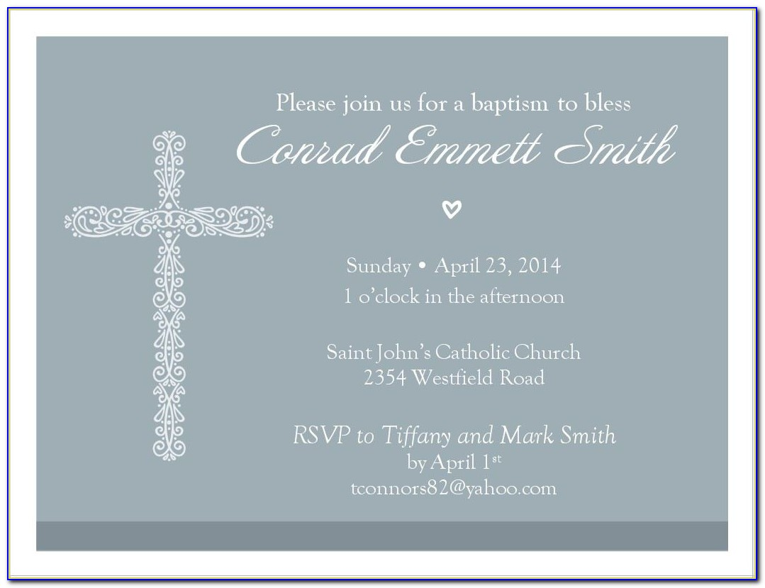 How To Make A Christening Invitation Card