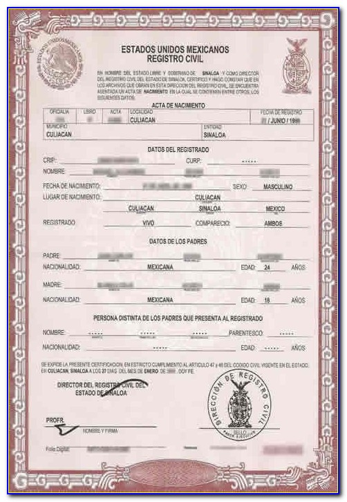 How To Translate A Mexican Birth Certificate To English