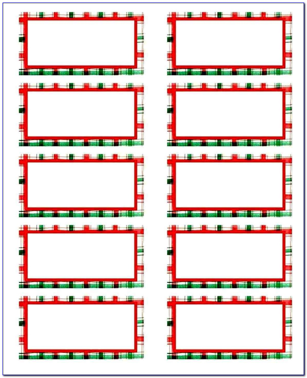 Free Christmas Mailing Labels Template