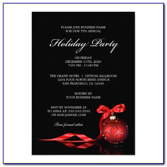 How To Write A Company Holiday Party Invitation
