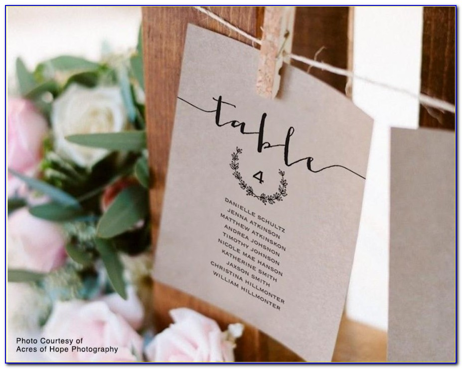 How To Write Seating Cards For Wedding
