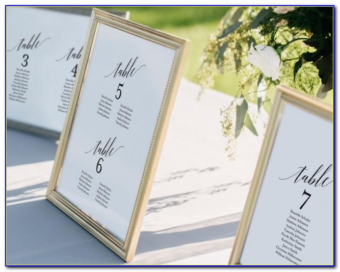 How To Write Wedding Seating Cards
