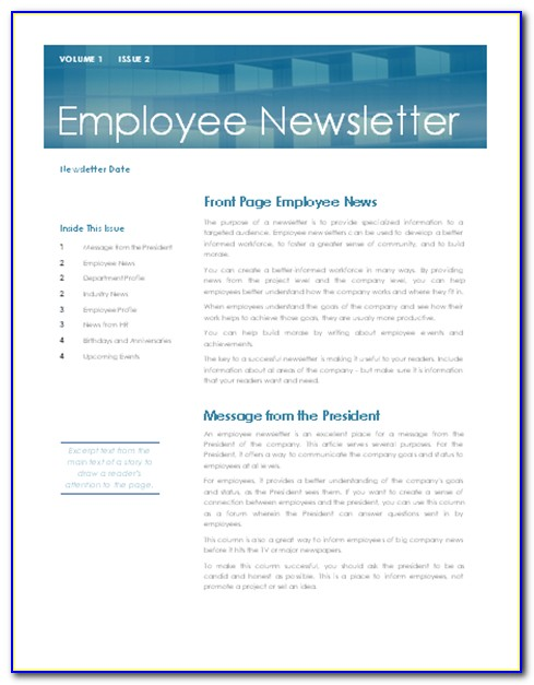 Hr Newsletter Template