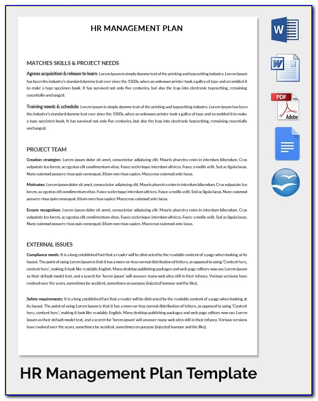 Hr Strategic Plan Template Pdf