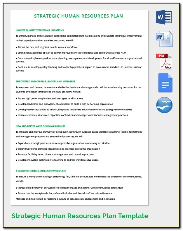 Human Resources Strategic Planning Template