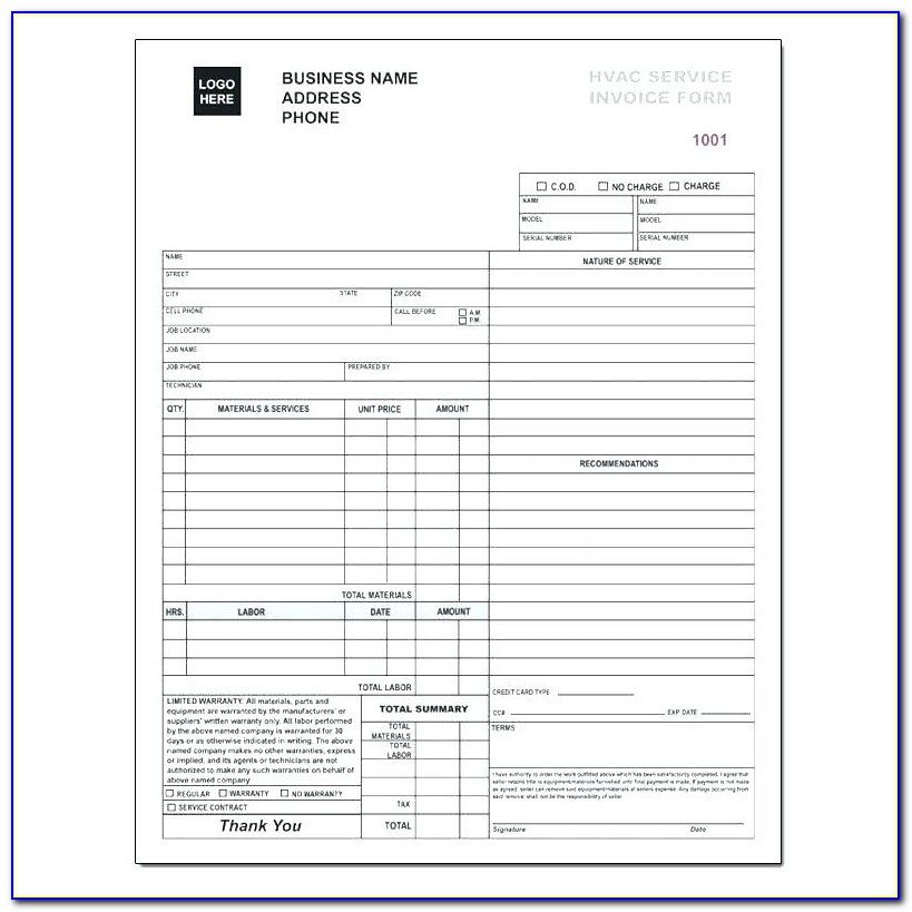 Hvac Service Agreements Template