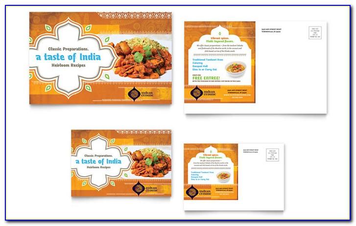 Indian Restaurant Menu Design Templates