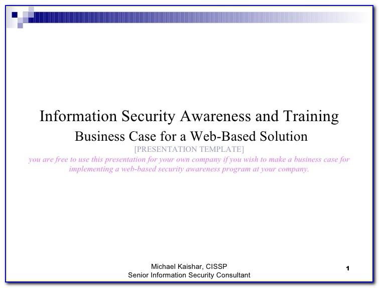 Information Security Awareness Plan Template