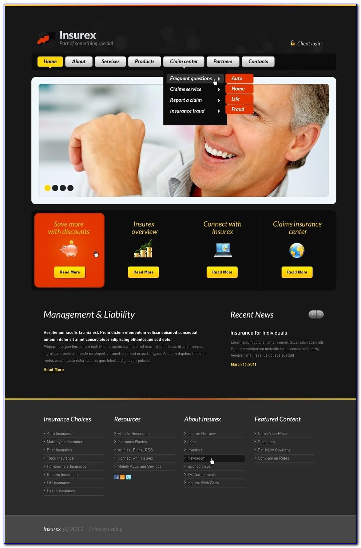 Insurance Agent Website Templates