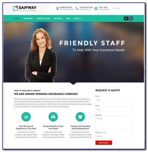 Insurance Website Templates Wordpress