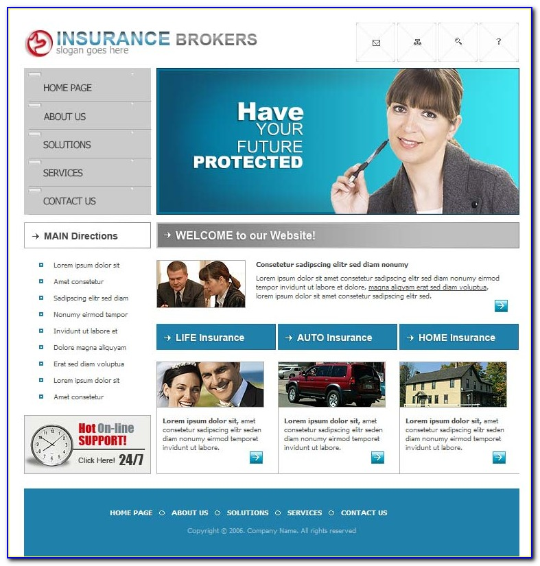 Insurance Websites Templates Free Download