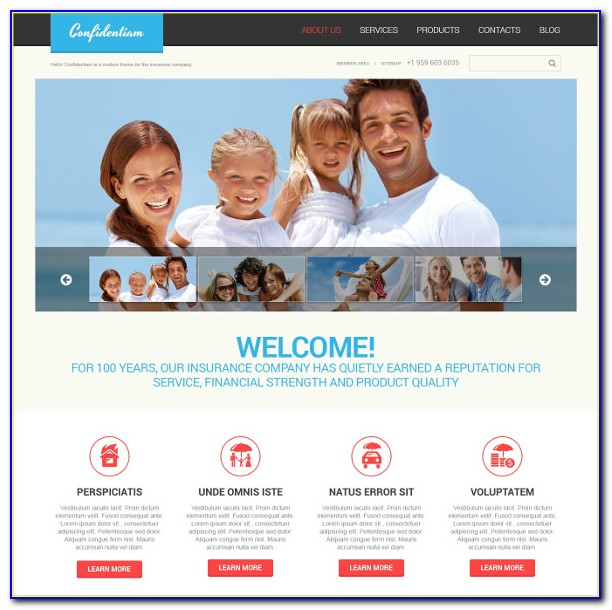 Insurance Websites Templates Free