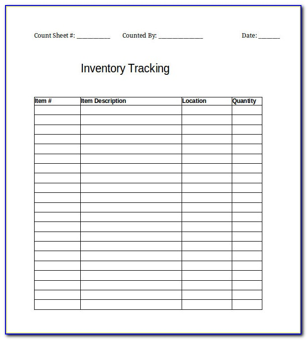 Inventory Excel Template Free Download