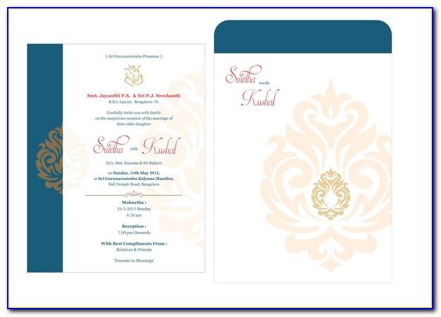 Islamic Wedding Invitation Cards Templates