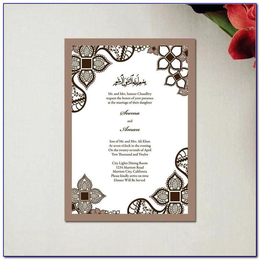 Islamic Wedding Invitation Template Free
