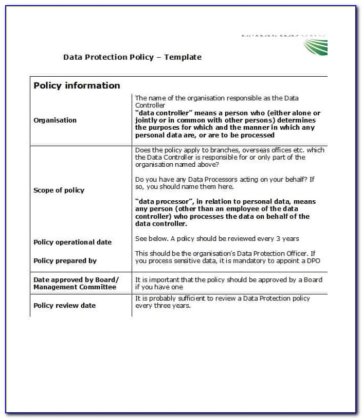 Iso 27001 Policy Statement Example