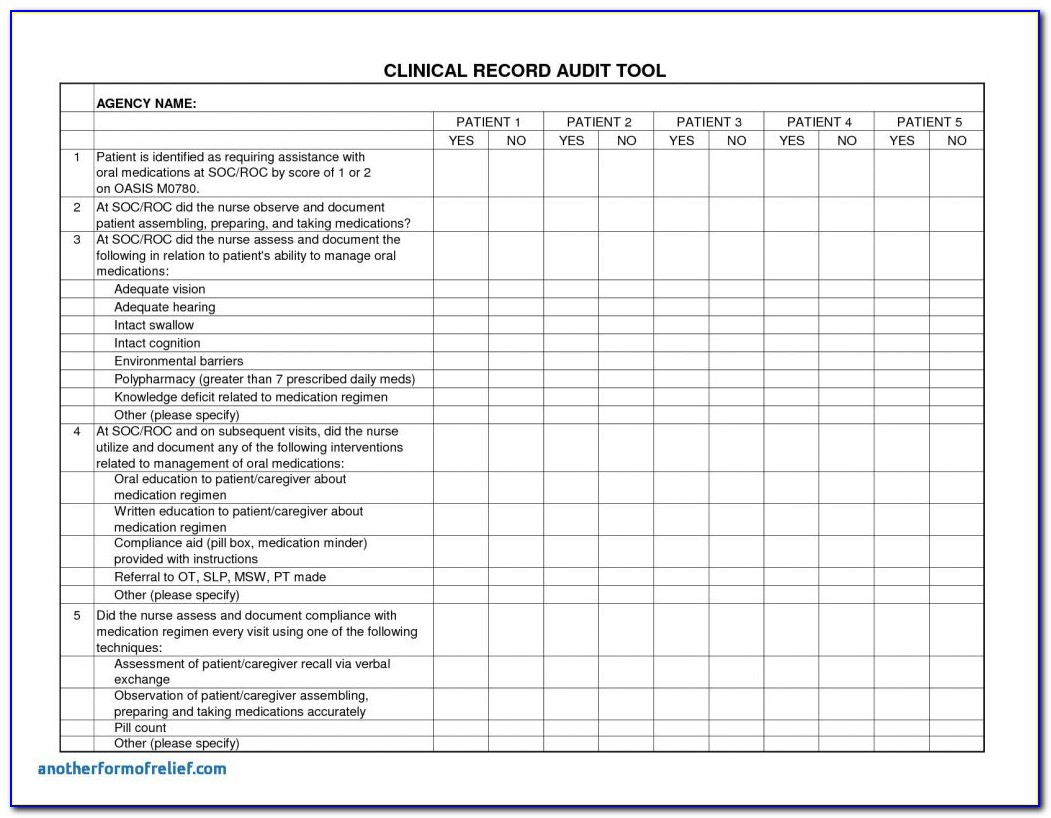 Iso Internal Audit Report Template