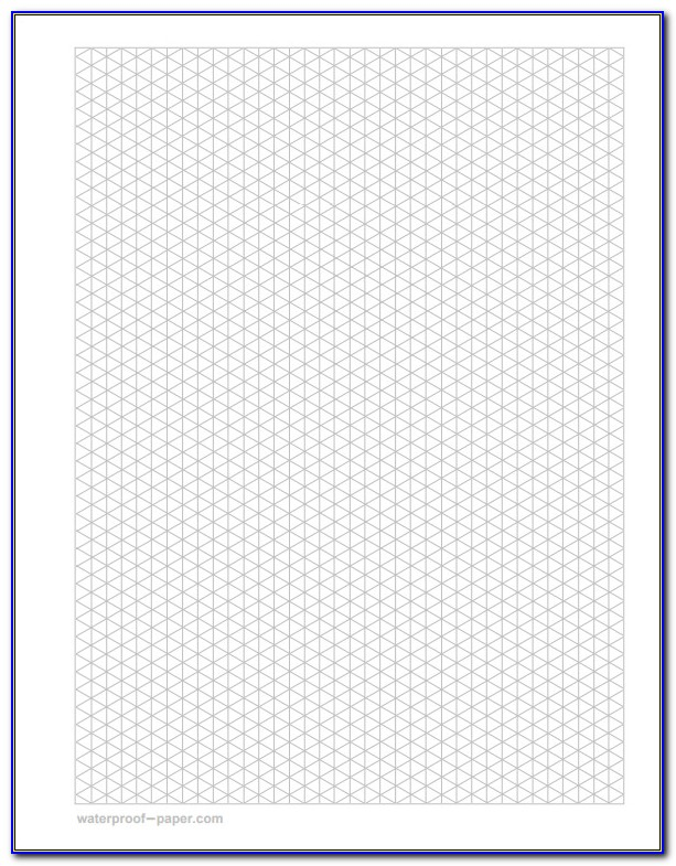 Isometric Drawing Paper Printable