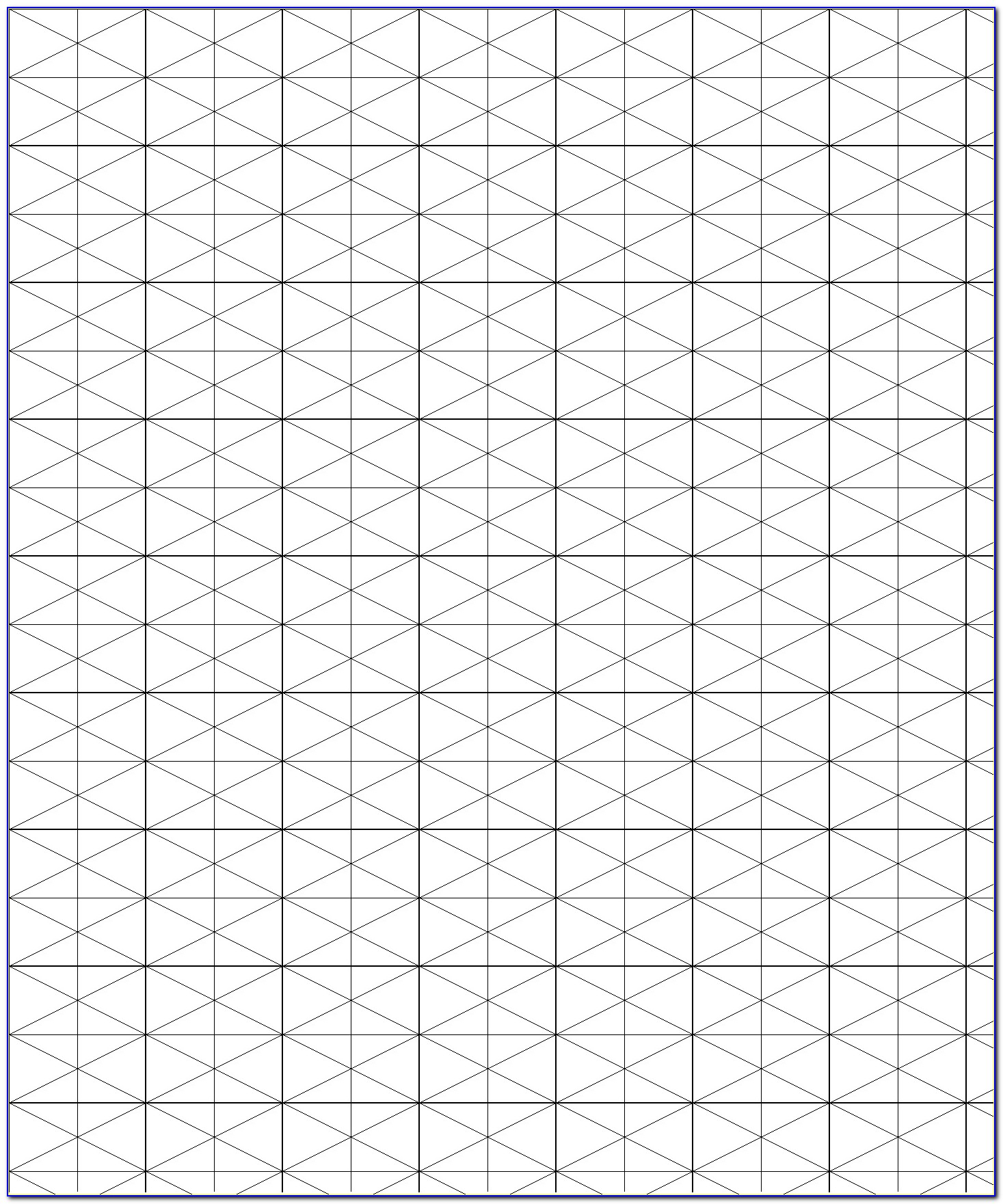 Isometric Drawing Paper Template