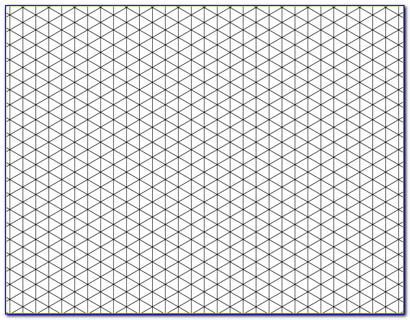 Isometric Grid Paper Template
