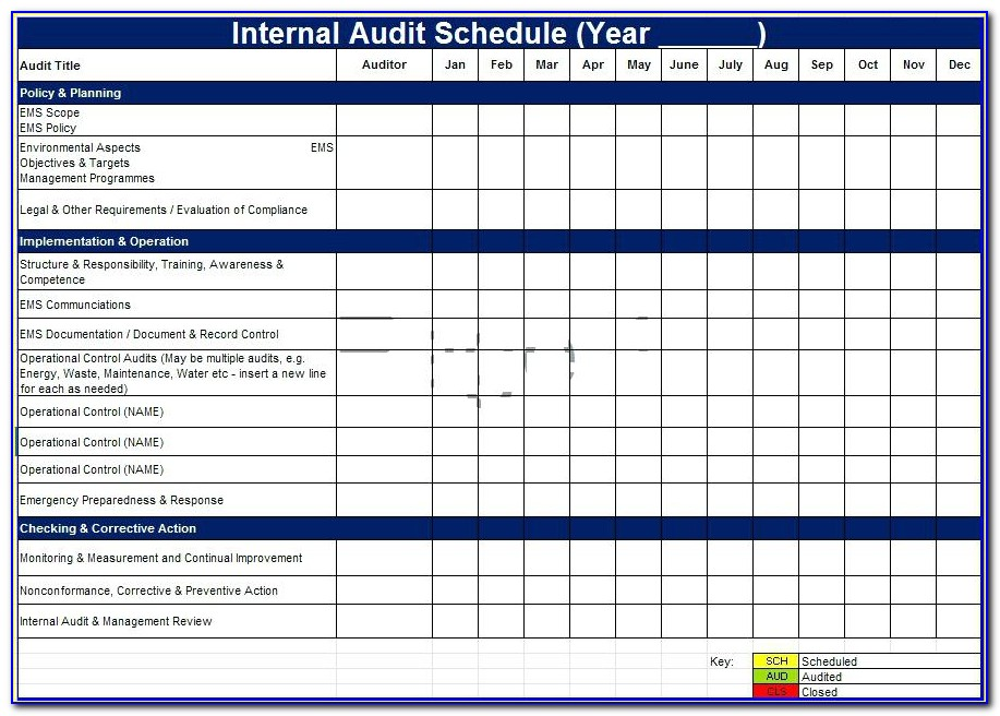 It Audit Plan Template Excel
