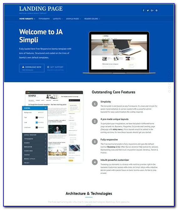 Joomla 3 Landing Page Template