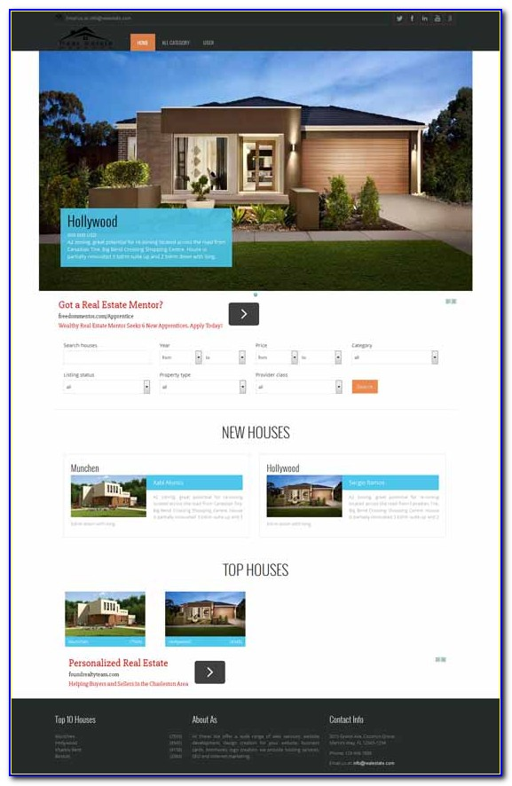 Joomla 3 Real Estate Template Free