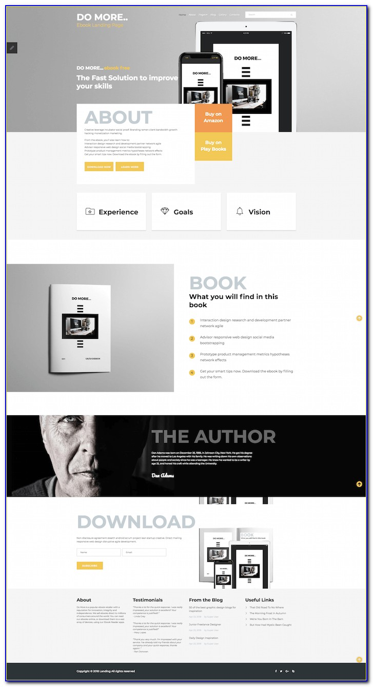 Joomla Landing Page Template Free