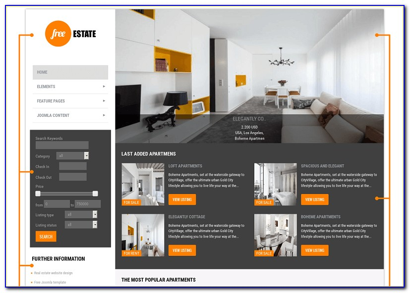 Joomla Real Estate Template Nulled