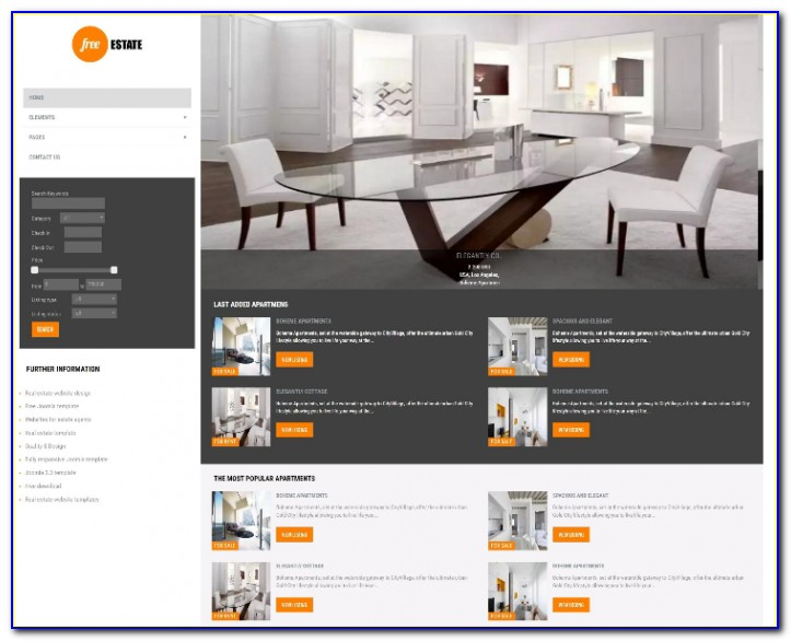 Joomla Real Estate Templates Free