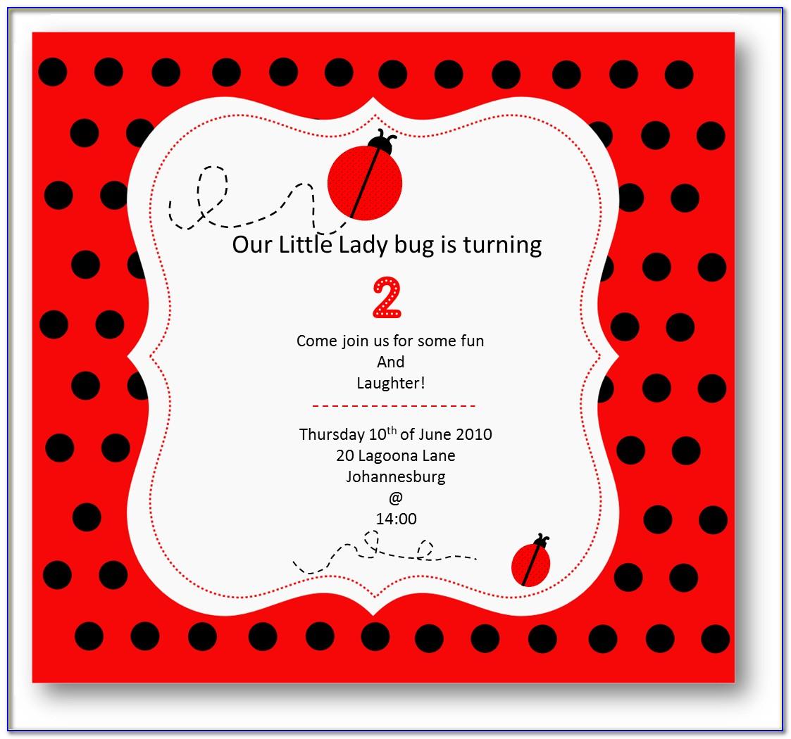 Ladybug Invitation Designs
