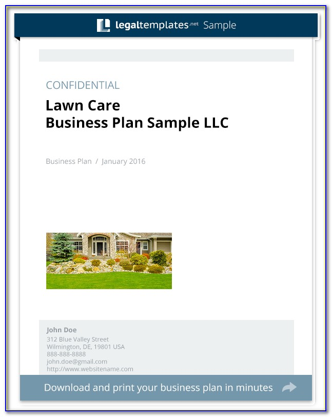 Landscaping Business Plan Sample Pdf