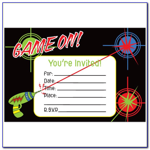 Laser Tag Invitations Templates