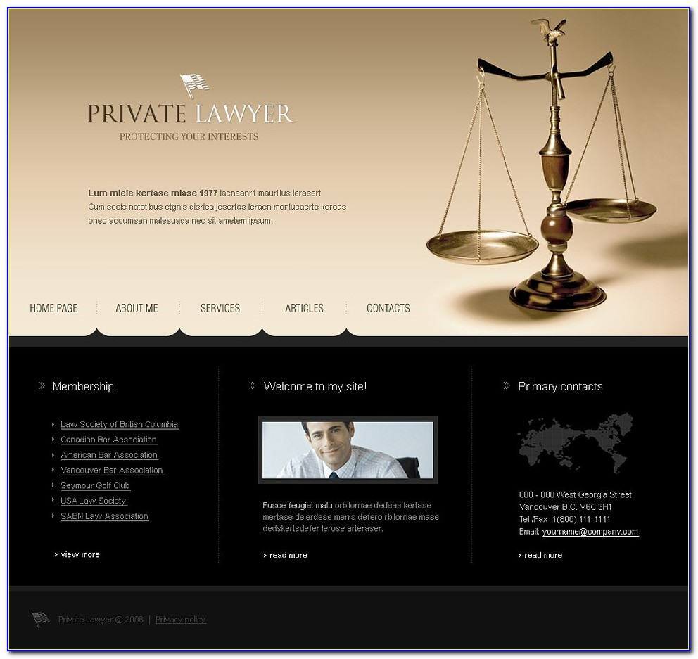 Lawyer Websites Templates