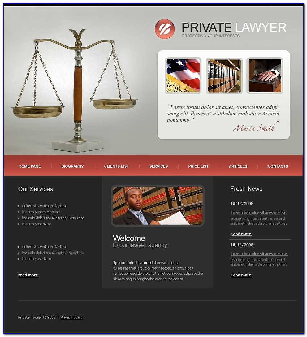 Lawyers Websites Templates