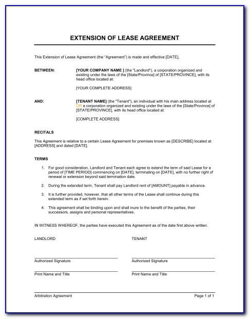 Lease Extension Template Uk