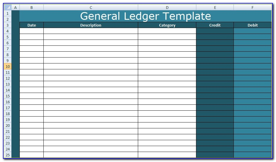 Ledger Paper Template Excel
