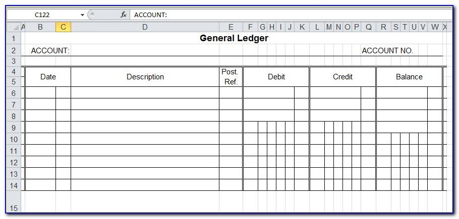 Ledger Sheet Example