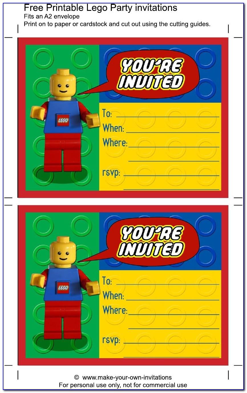 Lego Birthday Invitation Template Free
