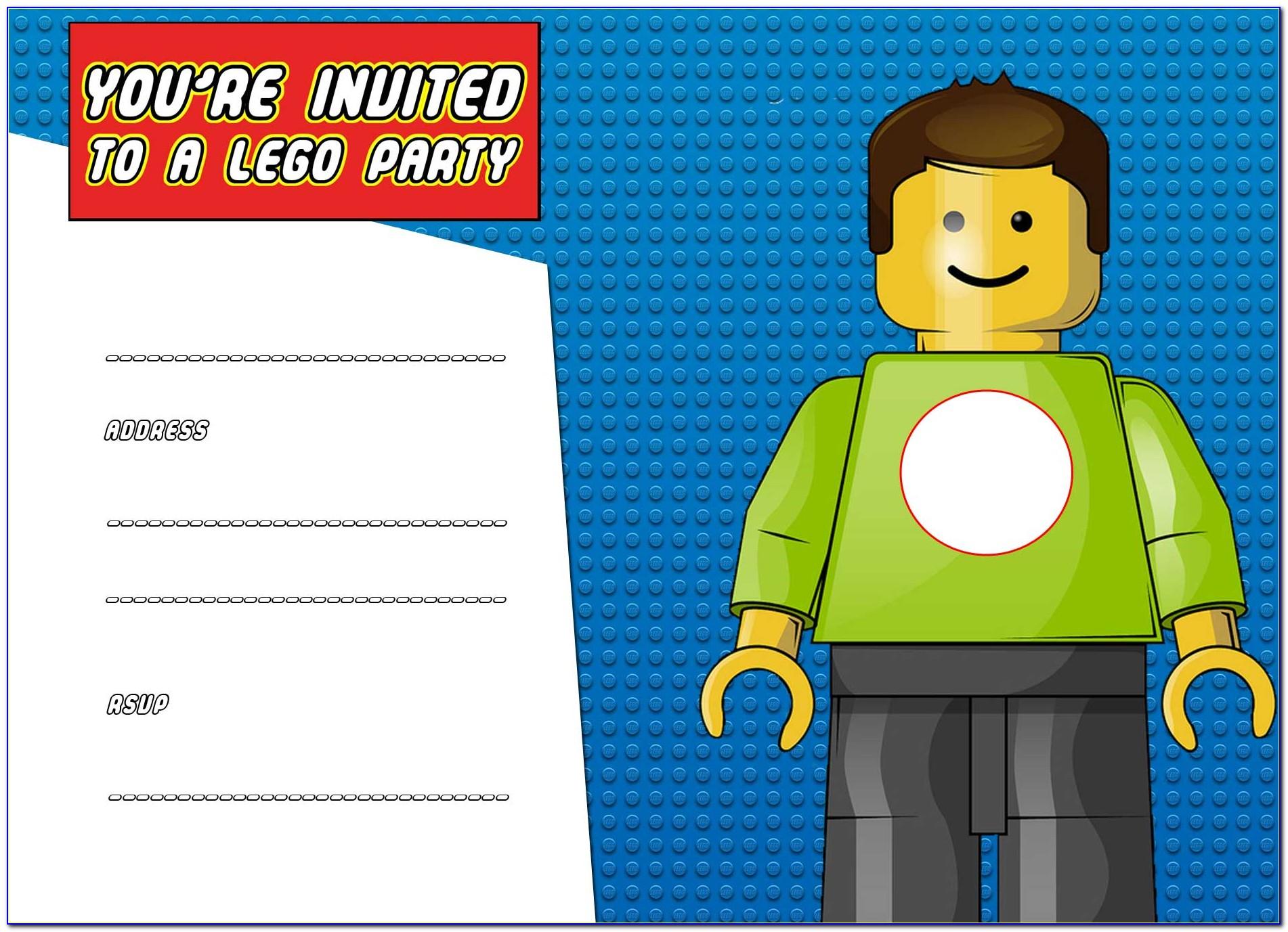 Lego Birthday Party Invitation Free Template