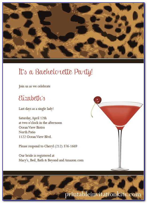 Leopard Print Invitations Templates