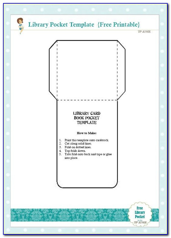 Library Book Due Date Card Template