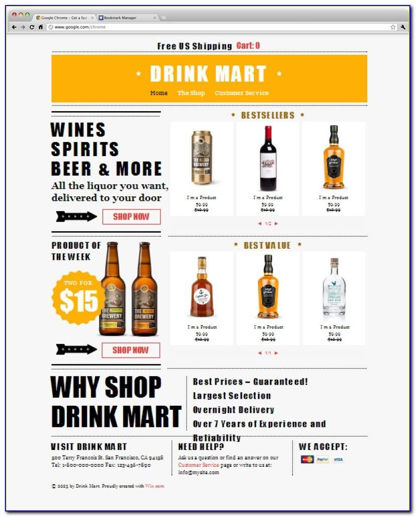 Liquor Store Website Template