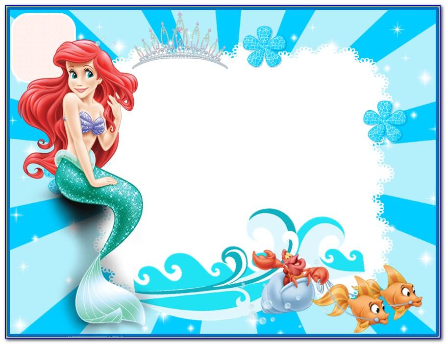 Little Mermaid Birthday Invitation Template Free