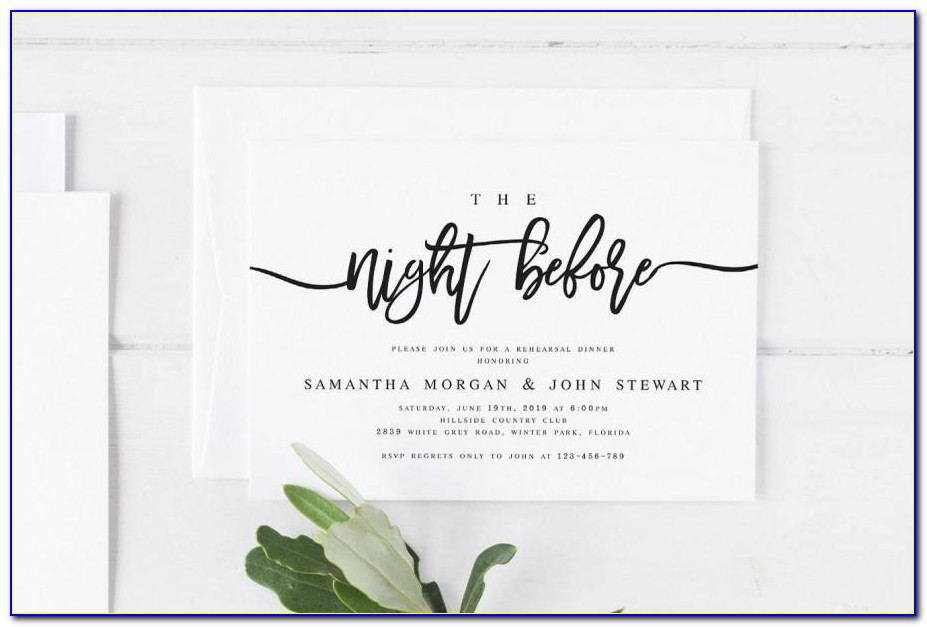 Make Your Own Rehearsal Dinner Invitations